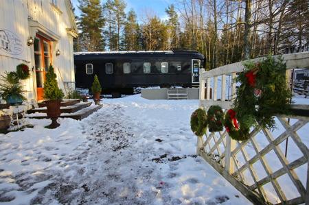 Silleruds station i juletid.