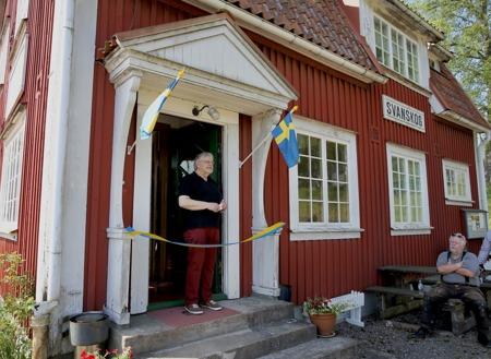 20 maj 2017 - Återinvigning av Järnvägsmuseet, med tal och bandklippning.
