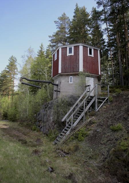 Vattentornet där ångloken stannade och fyllde på vatten.