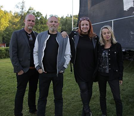 Mats Wester och Håkan Hemlin i musikduon Nordman samt Shirley Clamp och Louise Hoffsten.