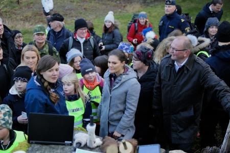 Första stationen - Maria Falkevik berättade om Länsstyrelsens rovdjursförvaltning.