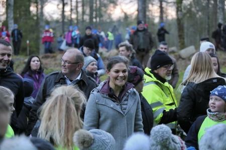 Kronprinsessan vände sig särskilt till alla barnen och tackade för en upplevelserik dag.