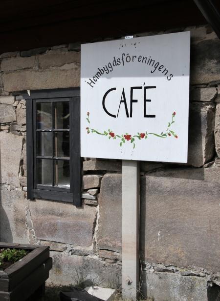 Hembygdsföreningens café hade öppet.