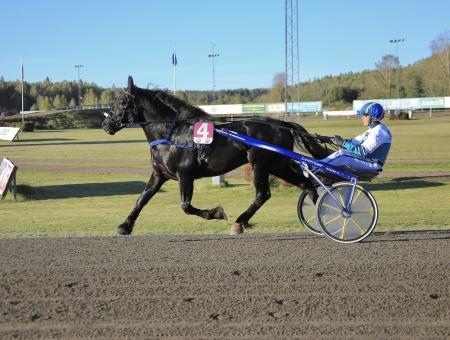 B.W.Sture med Örjan Kihlström i sulkyn.