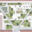 Illustrationsplan, ombyggnation innergård trygghetsboende. Under konstruktion