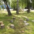 Kvarteret Ödlan, konceptskiss för utvecklingen av utemiljön vid ett nytt kultur- och naturhus, Jönköping