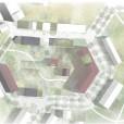 Kvartersstruktur, tävlingsbidrag Bjärred.  I samarbete med Metria AB