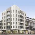 Arkitektur av Arkitekthuset, Innergård och takterasser av Billingham & Flygare, vinnande förslag i markanvisningstävling, Västerport, Varberg, Hökerum Bygg
