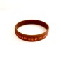 Pepp-armband - Brun & orange GIVE UP GIVE IN OR GIVE IT ALL YOU`VE GOT
