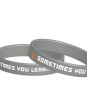 Pepp-armband - Grå & vit SOMETIMES YOU WIN SOMETIMES YOU LEARN