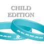 Pepp-armband - (!! OBS !!CHILD EDITION) Turkos & vit JAG VILL JAG KAN JAG SKA