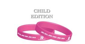 Pepp-armband - (!! OBS !!CHILD EDITION) Ljus rosa & vit JAG VILL JAG KAN JAG SKA