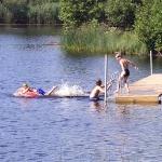 bad i Långasjön