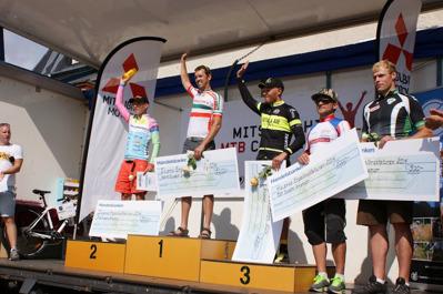 1:a Daniel Brengdahl, CK Hymer. 2:a Mikael Flockhart, Team Corratec Sweden. 3:a Johan Landström, Motala AIF/Scott Sports. 4:a Jan Lundman, Piteå CK. 5:a Viktor Junell, IK Jarl Rättvik.