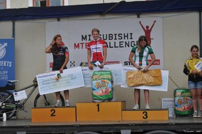 1:a Emmy Thelberg, Härnösands CK. 2:a Åsa Erlandsson, Varbergs MTB. 3:a Jennie Stenerhag, Falu CK.
