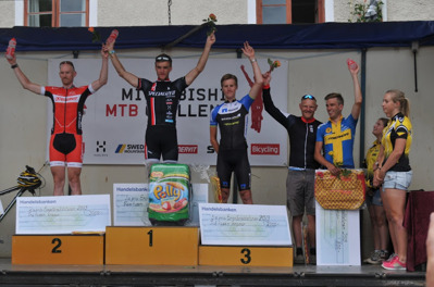 1:a Matthias Wengelin. 2:a Fredrik Ericsson, CK Cykelcity.se. 3:a Alexander Wetterhall, Skara CK/Nett-App Endur. 4:a JohanLandström, Motala AIF/Crescent. 5:a Magnus Darvell, Team Kalas Merida.