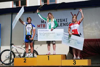 1:a Jennie Stenerhag, Falu CK. 2:a Ann Berglund, IK Hakarpspojkarna. 3:a Emmy Thelberg, Härnösands CK.