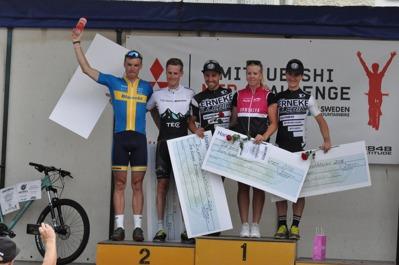 1:a Jonas Ahlstrand, Team Ormsalva AC. 2:a Emil Lindgren, Serneke Allebike CK. 3:a Michael Olsson, Serneke Allebike CK. 4:a Alexander Wetterhall, Skara CK / Team Tre Berg - Bianchi. 5:a Matthias Wengelin, Almby IK / Team Bergslagsloppet.