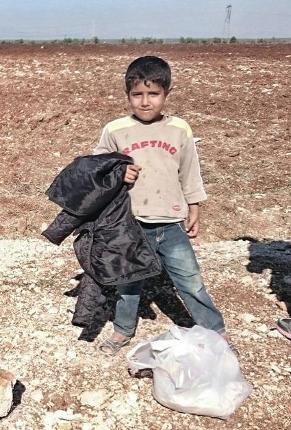 Syrisk flykting, pojke