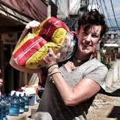 Matpimp i Nepal efter jordbävningarna. Foto: Kvinnan i butiken.