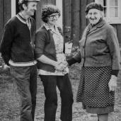 Gösta Gustavsson, Margit Johansson och Olga Petersson Foto:okänd