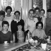 Sykurs i Häradsbäck 1964. Kursledare: Nanny Skogsström, Fridafors. Foto: Lilly Kroon