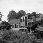 Grävningar till skolbygget i Häradsbäck påbörjas i augusti 1962. Foto: Lilly Kroon