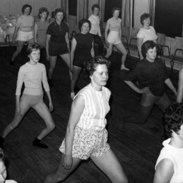 Evagymnastiken Mars 1963. Foto: Lilly Kroon