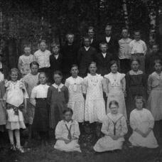 Häradsbäcks skola omkring 1920