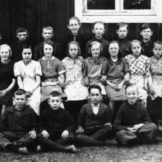 Spjutaretorps skola 1937. Lärare: Elsa Johansson