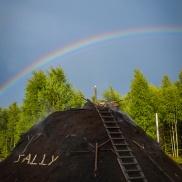 Regnbåge över kolmilan Sally