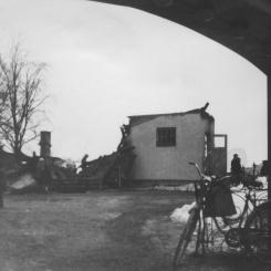Linkullen brinner ner 5  februari 1955 Foto: Lilly Kroon