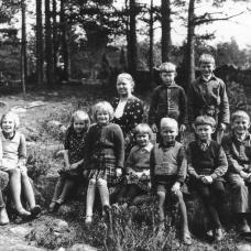 Hårdahults skola 1940-talet. Lärare Susanna Håkansson