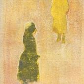 För ljus. Akryl på lera. 14 x 24 cm. copy