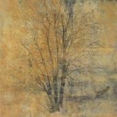 Hur långt är ett nu ll. Akryl på pannå. 80 x 120 cm. copy