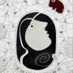 T. I. (titt..)Mosaikrelief hög kvalitet 007