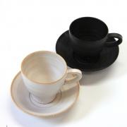 Espressokopp med fat