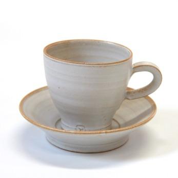 Espresso/glöggkopp m fat - Espressokopp med fat, vit