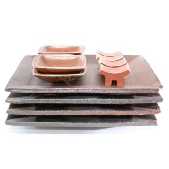 Sushiservice - Sushiservice rostbrun/orange
