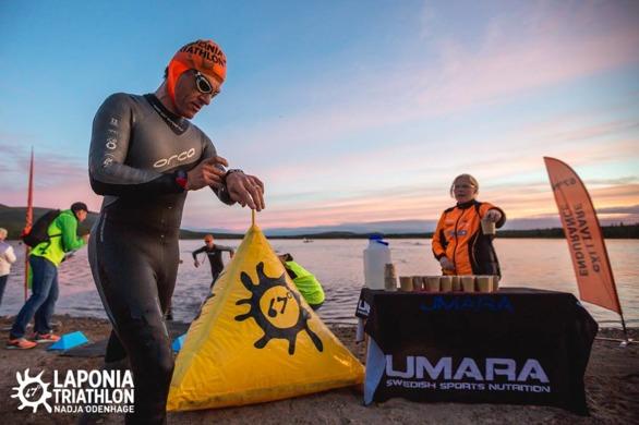 Efter 1,9km simning en snabb titt på min Polar V800  Foto: Nadja Odenhage