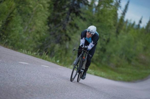Odd Larson på väg till en obehindrad seger. Foto: Hans Berggren Photography