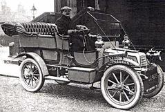 Tidig modell av bilglas
