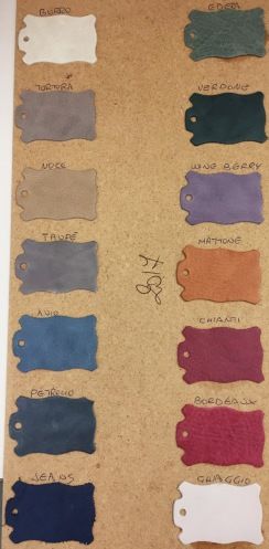 Färger på kalvskinnet vintage