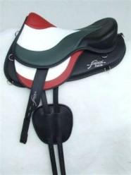 Wave stigläder i skinn med T-spänne - Wave stigläder i svart skinn med T-spänne
