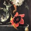 Blomvasen vävt bomullstyg