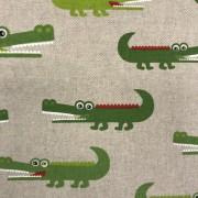 Krokodilen vävt tyg