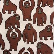 Lilla Gorillan vävt tyg