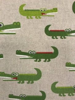 Krokodilen vävt tyg -