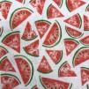 Melon vävt bomullstyg