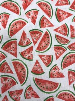 Melon vävt bomullstyg -